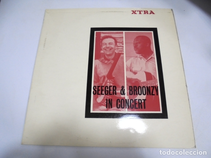 LP. SEEGER & BROONZY IN CONCERT. XTRA. 1965. FOLKWAYS RECORDS USA (Música - Discos - LP Vinilo - Country y Folk)
