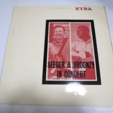 Discos de vinilo: LP. SEEGER & BROONZY IN CONCERT. XTRA. 1965. FOLKWAYS RECORDS USA. Lote 173724947