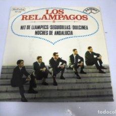 Discos de vinilo: SINGLE. LOS RELAMPAGOS. NIT DE LLAMPECS / SEGUIDILLAS / DULCINEA. 1965. ZAFIRO. Lote 173730419