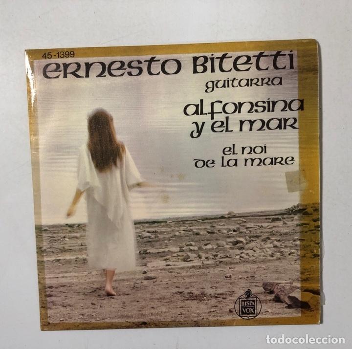 SINGLE. ERNESTO BITETTI. GUITARRA. ALFONSINA Y EL MAR. HISPAVOX. 1976. (Música - Discos - Singles Vinilo - Grupos y Solistas de latinoamérica)