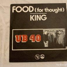 Discos de vinilo: UB40 – FOOD (FOR THOUGHT) / KING SELLO: VOGUE – 101325, GRADUATE RECORDS – 101325 FORMATO: VINYL. Lote 243227210