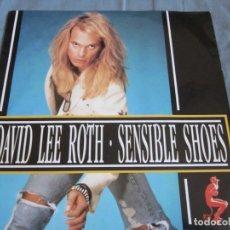Discos de vinilo: DAVID LEE ROTH - SENSIBLE SHOES - SG - EDICION ALEMANA DEL AÑO 1990. VAN HALEN.. Lote 173788073