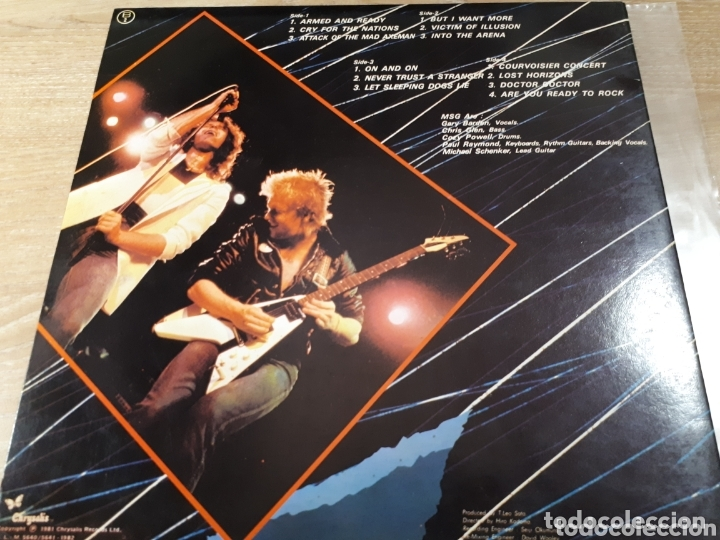 Discos de vinilo: MICHAEL SCHENKER GROUP ONE NIGHT AT BUDOKAN MSG DOBLE LP - Foto 2 - 173793825