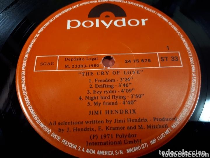 Discos de vinilo: JIMI HENDRIX THE CRY OF LOVE - Foto 3 - 173803529