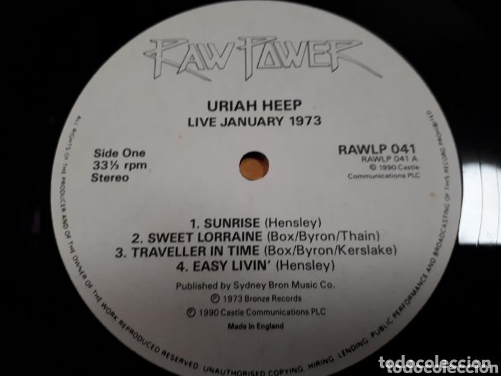 Discos de vinilo: URIAH HEEP LIVE JANUARY 1973 DOBLE LP - Foto 4 - 173803902