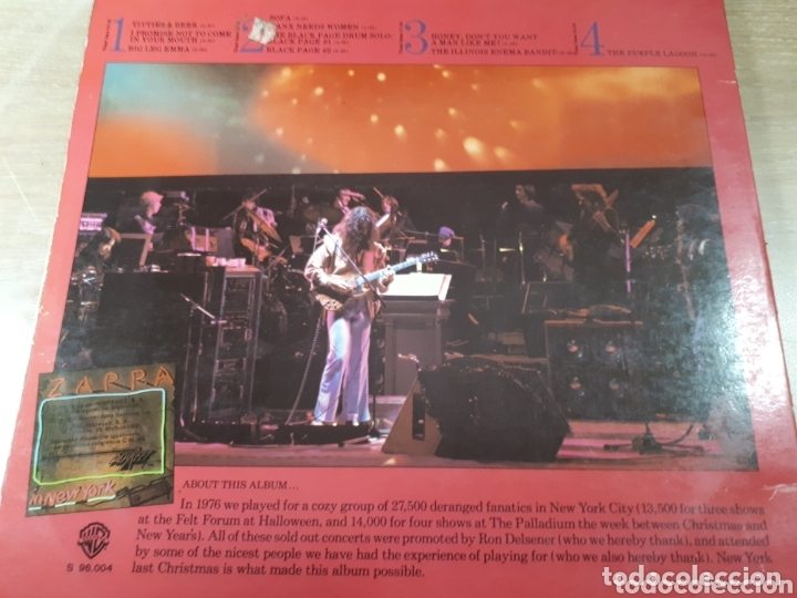 Discos de vinilo: FRANK ZAPPA IN NEW YORK DOBLE LP - Foto 2 - 173804737