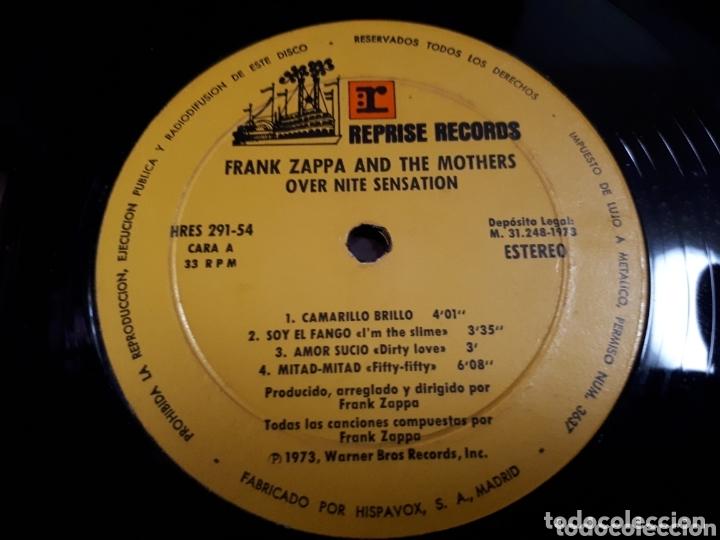 Discos de vinilo: FRANK ZAPPA OVER NITE SENSATION - Foto 3 - 173806130