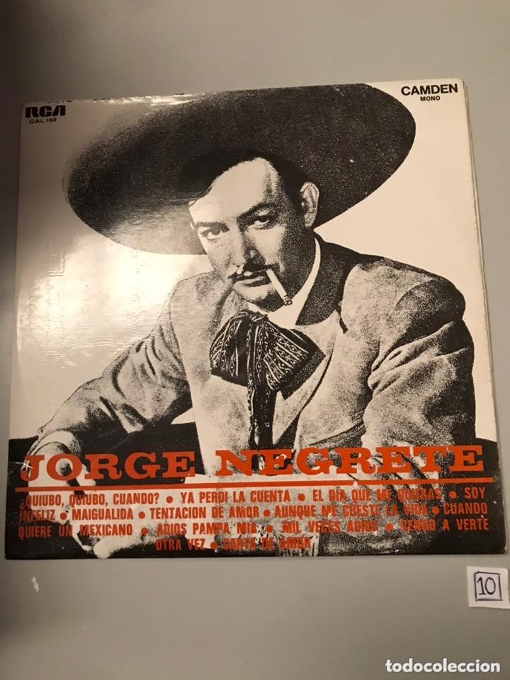 JORGE NEGRETE LP (Música - Discos - LP Vinilo - Cantautores Extranjeros)