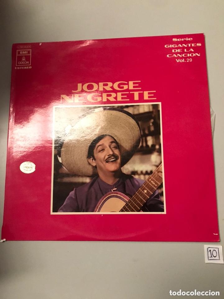 JORGE NEGRETE (Música - Discos - LP Vinilo - Cantautores Extranjeros)