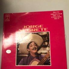 Discos de vinilo: JORGE NEGRETE. Lote 173810502