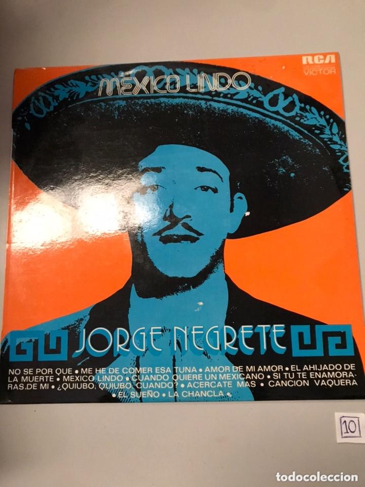 JORGE NEGRETE – MEXICO LINDO (Música - Discos - LP Vinilo - Cantautores Extranjeros)