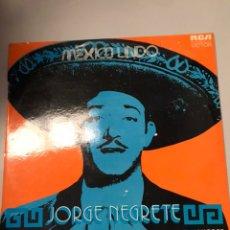 Discos de vinilo: JORGE NEGRETE – MEXICO LINDO. Lote 173810753
