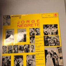 Discos de vinilo: RECUERDOS DE JORGE NEGRETE. Lote 173810900