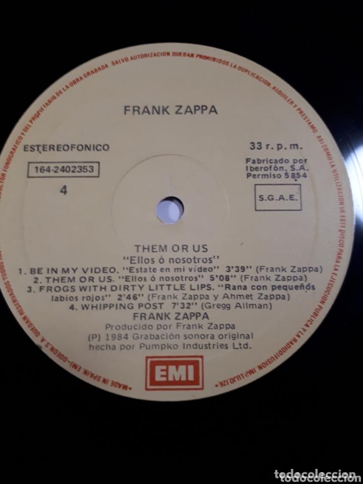 Discos de vinilo: FRANK ZAPPA THEM OR US DOBLE LP - Foto 4 - 173813000