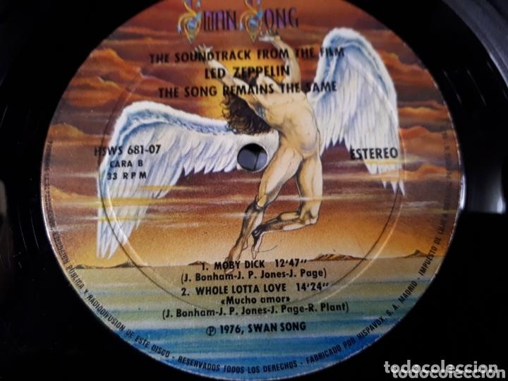 Discos de vinilo: LED ZEPPELIN THE SONG REMAINS THE SAME DOBLE LP - Foto 4 - 173813760