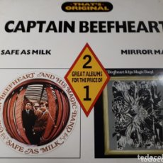 Discos de vinilo: CAPTAIN BEEFHEART DOBLE LP SAFE AS MILK Y MIRROR MAN. Lote 173814110
