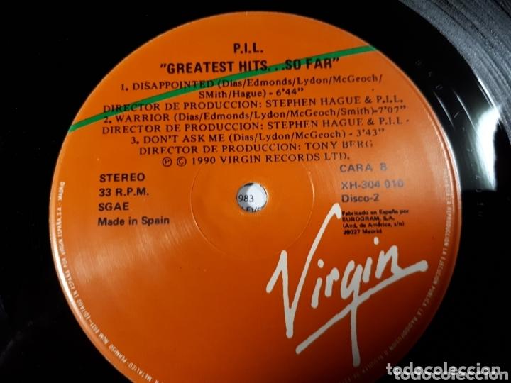 Discos de vinilo: P.IL. PUBLIC IMAGE LTD GREATEST HITS.... SO FAR DOBLE LP - Foto 4 - 173817377