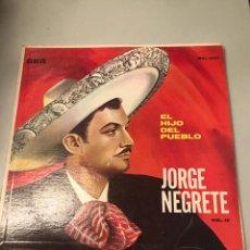 Discos de vinilo: JORGE NEGRETE. Lote 173817480