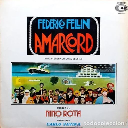 AMARCORD (BANDA SONORA ORIGINAL) LP DE 1982 (Música - Discos - LP Vinilo - Bandas Sonoras y Música de Actores )