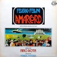 Discos de vinilo: AMARCORD (BANDA SONORA ORIGINAL) LP DE 1982. Lote 173818870