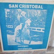 Discos de vinilo: SAN CRISTOBAL. MERENGUES INSTRUMENTALES. LP VINILO. MOREL RECORDS. VER FOTOGRAFIAS ADJUNTAS. Lote 173832944
