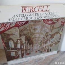 Discos de vinilo: PURCELL. ANTOLOGIA DE CANCIONES, ARIAS Y MUSICA INSTRUMENTAL. LP VINILO. 2 DOISCOS. HISPAVOX 1981.. Lote 173835627