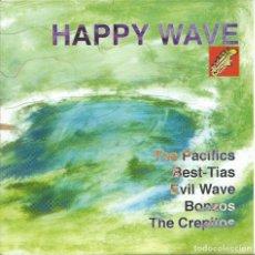 Discos de vinilo: HAPPY WAVE, EP COMPARTIDO (GR.CANALLAS 1996) -GATEFOLD-. Lote 173836082