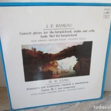 Discos de vinilo: J.P. RAMEAU. CONCERT PIECES FOR THE HARPSICHORD, VIOLIN AND CELLO. 2 LP VINILO. MENOANR 1970.. Lote 173836194