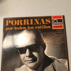 Discos de vinilo: PORRINAS POR TODOS LOS ESTILOS. Lote 173847760