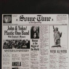 Discos de vinilo: LP JOHN LENNON & YOKO ONO / PLASTIC ONO BAND SOME TIME IN NEW YORK CITY EDICIÓN ESPAÑA BEATLES . Lote 173848128
