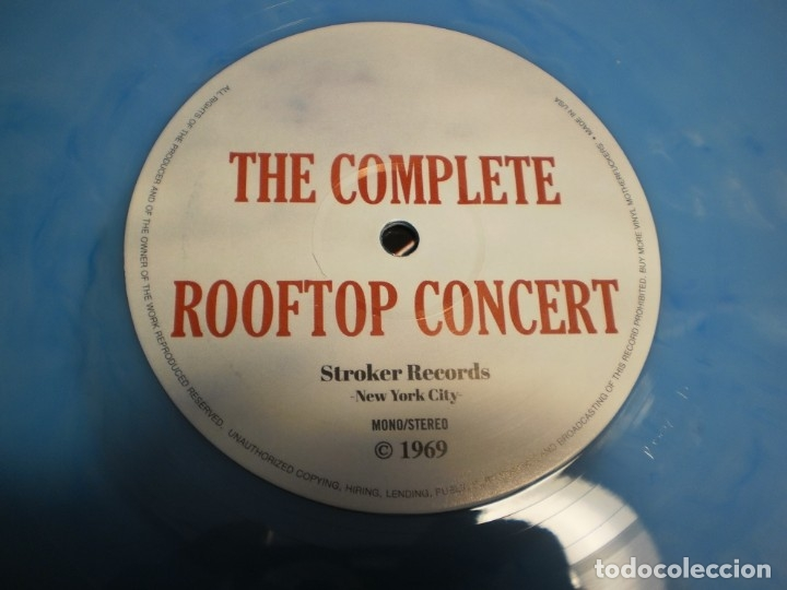 Discos de vinilo: lp azul the beatles. the complete rooftop concert. apple records 1969 usa (seminuevo) - Foto 5 - 173854469
