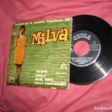 Discos de vinilo: MILVA - FESTIVAL DE LA CANCIÓN NAPOLITANA 1961 EP SPA. Lote 173861214