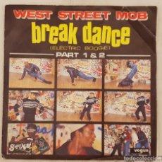Disques de vinyle: WEST STREET MOB – BREAK DANCE (ELECTRIC BOOGIE) PART 1 & 2 SELLO: SUGAR HILL RECORDS – 101841 . Lote 173861513