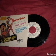 Discos de vinilo: LAS TENTACIONES DE BENEDETTO SINGLE AÑO 1973 PROMOCION. SPA. Lote 173863035
