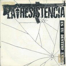 Discos de vinilo: LA RESISTENCIA, ES TU DESTINO AMIGO. (TWINS 1985) -PROMO-. Lote 173865704