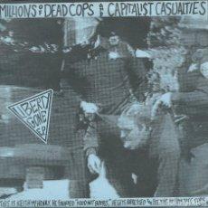 Discos de vinilo: M.D.C. - CAPITALIST CASUALITES. EP COMPARTIDO (SLAP A HAM 1994) -HOJA INTERIOR-. Lote 173868862