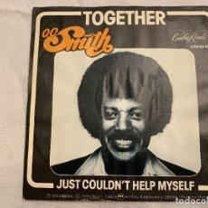 Dischi in vinile: O.C. SMITH* – TOGETHER / JUST COULDN'T HELP MYSELF GÉNERO: FUNK / SOUL ESTILO: SOUL AÑO: 1976 . Lote 173868864