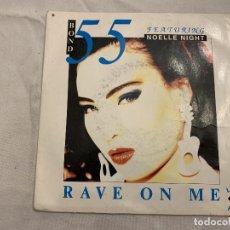 Discos de vinilo: BOND 55 – RAVE ON ME GÉNERO: ELECTRONIC ESTILO: HOUSE, TECHNO AÑO: 1991 PISTAS RAVE ON ME (EXTENDE. Lote 173869140