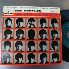 Discos de vinil: THE BEATLES-EP A HARD DAY'S NIGHT +3-LABEL VERDE. Lote 173843250
