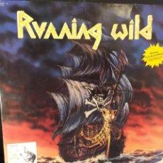 Discos de vinilo: RUNNING WILD UNDER JOLLY ROGER LP ORIGINAL ALEMANIA 1987. Lote 173874417