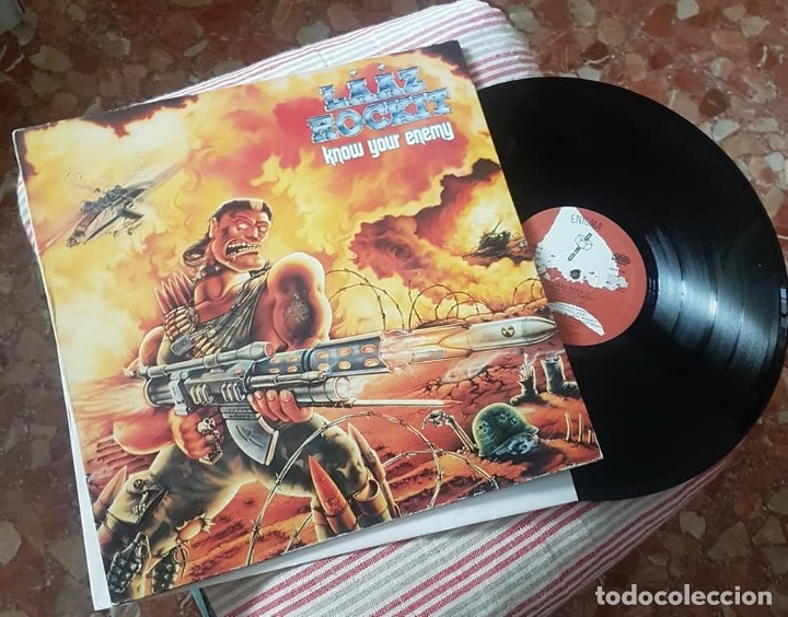 LAAZ ROCKIT. KNOW YOUR ENEMY, MUSIC FOR NATIONS, UK 1987 LP (Música - Discos - LP Vinilo - Heavy - Metal)