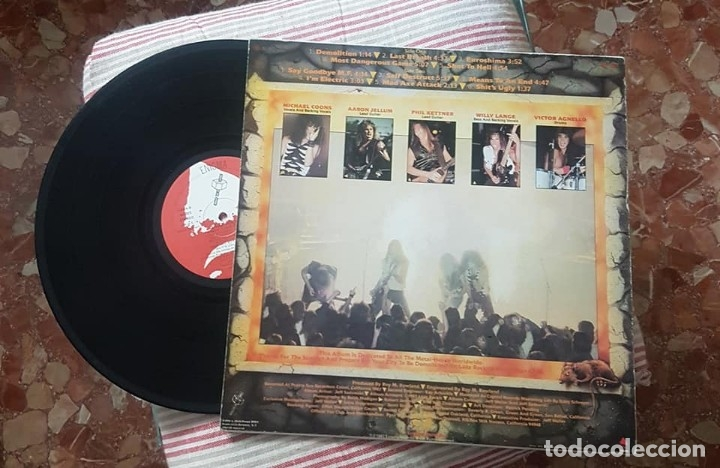 Discos de vinilo: Laaz Rockit. Know your enemy, Music for Nations, UK 1987 LP - Foto 2 - 173879140