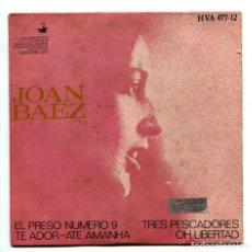 Discos de vinilo: JOAN BAEZ. SINGLE.. Lote 173881445