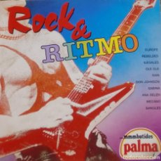 Discos de vinilo: ROCK AND RITMO - REBELDES + EUROPE+ ILEGALES + MECANO + OLE OLE + SABINA + ANA BELEN LP 1988. Lote 173881577