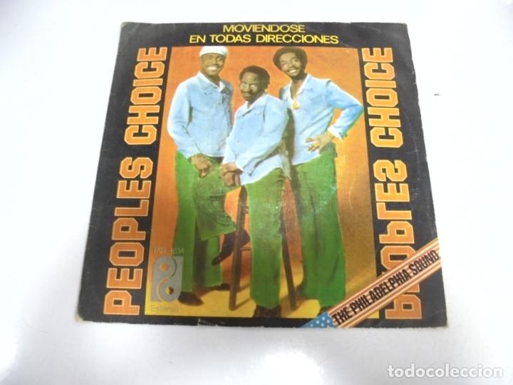 SINGLE. PEOPLES CHOICE. MOVIENDOSE EN TODAS DIRECCIONES. 1977. PIR (Música - Discos - Singles Vinilo - Funk, Soul y Black Music)