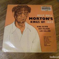 Discos de vinilo: JELLY ROLL MORTON - JELLY ROLL MORTON'S KINGS OF JAZZ (10'', COMP, MONO) . Lote 173897385