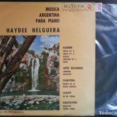 Discos de vinilo: MUSICA ARGENTINA PARA PIANO. - HELGUERA, HAYDEE.. Lote 173688660