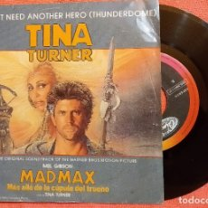 Discos de vinilo: SINGLE TINA TURNER ‎– WE DON'T NEED ANOTHER HERO (THUNDERDOME) ESPAÑA 1985,MUY BUEN ESTADO (VG_VG+). Lote 173911707