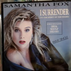 Discos de vinilo: SAMANTHA FOX-L SURRENDER (TO THE SPIRIT OF THE NIGHT). Lote 173927834