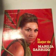 Discos de vinilo: LO MEJOR DE MARUJA GARRIDO. Lote 173941167